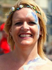 March of the Mermaids Brighton 2015 JuliaArts Face Painting