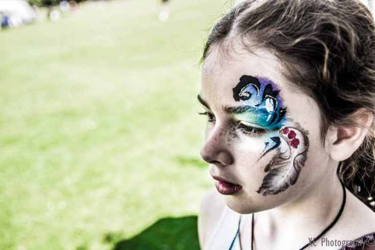 Wish Park Hove JuliaArts feather face painting